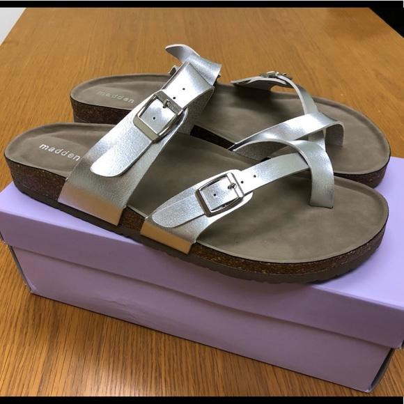 Madden Girl Brycee Sandals Silver Size